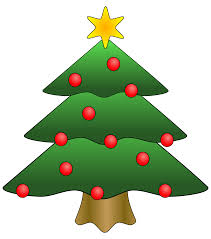 clipart of a christmas tree christmas lights decoration