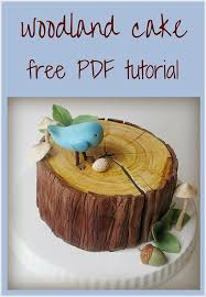 free woodland cake tutorial tutorials cake and free