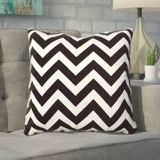 mercury row bollin chevron 100 cotton throw pillow reviews