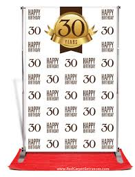 30th birthday delivery 30th birthday backdrop white 5x8 banner stands and backdrops