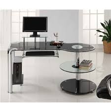 Computer Desks Modern Glass Computer Desk Trend Today