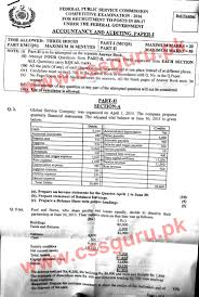 accountancy and auditing paper i css 2016 paper jahangir u0027s