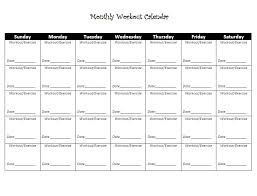 6 best images of free printable weekly workout schedule