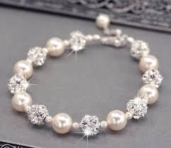 pearl bracelet swarovski images Ivory pearl wedding bracelet swarovski pearl and rhinestone jpg