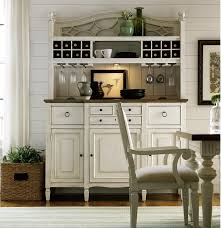 country chic maple wood white kitchen buffet with bar hutch zin home