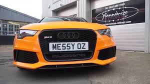 bright orange cars audi rs6 wrapped orange youtube