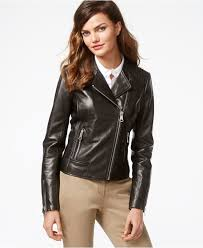 leather moto jacket marc new york leather moto jacket in black lyst