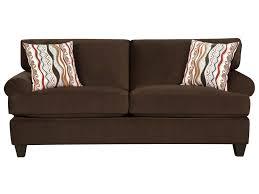 corinthian 47a0 jackpot chocolate sofa great american home store