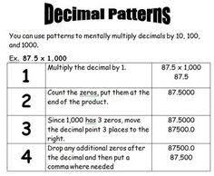 multiplying by powers of ten with decimals decimals pinterest