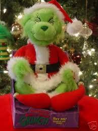 animated singing grinch doll santa