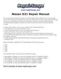 nissan d21 repair manual 1990 1994