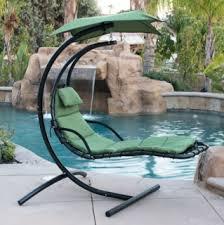 Hanging Chaise Lounge Chair Swing Garden Hammocks