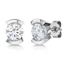 titanium stud earrings titanium earrings with pearls and multi cz diamond stones