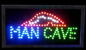 man cave led light up sign 19 5