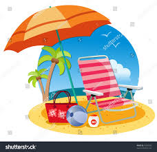 Clip On Umbrellas For Beach Chairs Umbrella Chair Ball Ball On Beach Stock Vector 75595339 Shutterstock