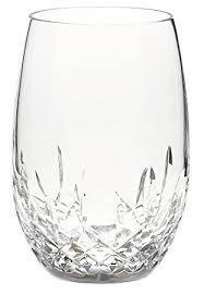 amazon com waterford lismore nouveau stemless white wine pair
