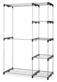 portable closet rack organizer w shelves extra towel storage