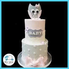 owl baby shower cake pink and grey owl baby shower cake blue sheep bake shop