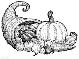 thanksgiving cornucopia coloring pages getcoloringpages com