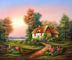 country cottage paintings in synecdoche new york