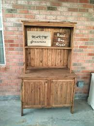 Build A Hutch How To Build A Kitchen Hutch Kitchen Hutch Made From Pallets