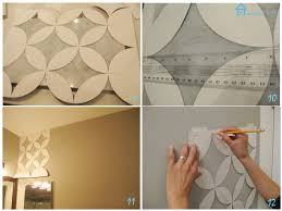 painted geometric wall upcycling geometric wall and stenciling