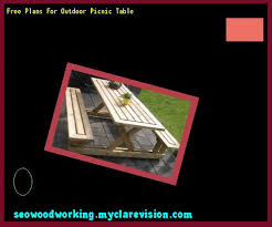 Plans For Outdoor Picnic Table by Outdoor Picnic Table Bench Plans 103136 Woodworking Plans And