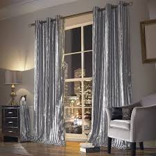 living room beautiful velvet curtains with pendant lamp and grey