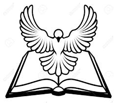 a christian bible dove concept with a white dove representing
