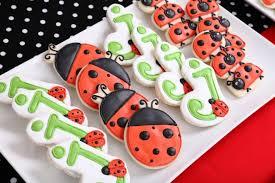 ladybug cookies ladybug birthday party pizzazzerie