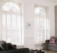 white wooden blinds shutters and window on pinterest arched window