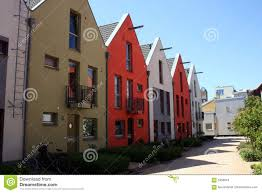 scandinavian row houses royalty free stock photos image 5356918