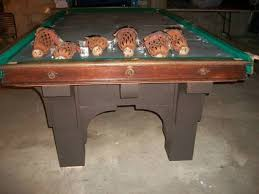 brunswick mission pool table 2 500 antique brunswick st bernard mission pool table for sale in