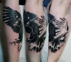 Guys Calf - 100 hawk designs for masculine bird ink ideas