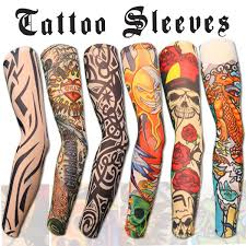 automotive tattoo sleeve amazon com 10pc fake temporary tattoo sleeves body art arm