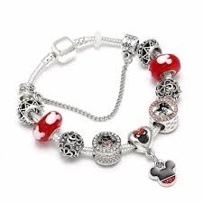 bangle style charm bracelet images High quality european style mickey mouse charm bracelets bangle jpg