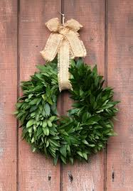 bay leaf wreath fresh bay leaf wreaths with jute bow mcfadden farm