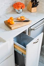 storage solutions for your kitchen makeover wastebasket pullout from thomasville