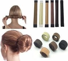 snap hair glamza women s magic hair bun snap styling donut former