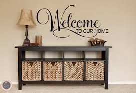 Door Decals For Home by Welcome Decal Welcome Sign Family Wall Decal Welcome Home