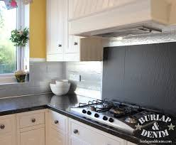 Where To Buy Stainless Steel Backsplash - faux stainless steel removable backsplash for renters burlap