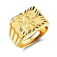 popular cheap gold rings for men buy cheap cheap gold 18k gold ring men send word drawing adjustable open ring
