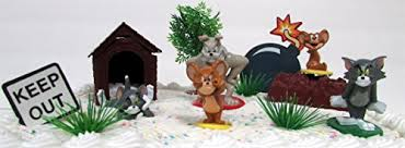 tom and jerry cake topper tom and jerry 8 cake topper set featuring tom jerry spike