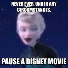 film frozen jokes never pause a disney movie frozen pinterest disney movies