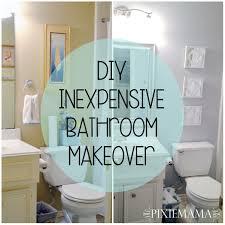 diy inexpensive bathroom makeover u2013 pixiemama