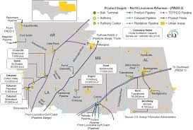 Map Of Gulf Coast East Coast And Gulf Coast Transportation Fuels Markets Energy