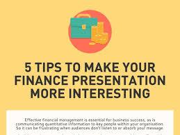 5 tips to make your finance presentation more interesting