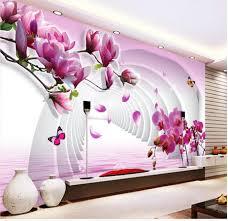 Magnolia Wallpaper Aliexpress Com Buy 3d Flower Wallpaper Custom Photo Wallpaper 3d