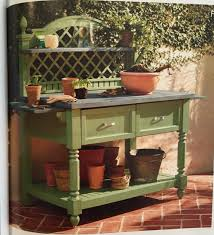 Inexpensive Potting Bench by Frontgate Says
