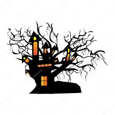 white halloween background vector isolated halloween house u2014 stock vector alliesinteract